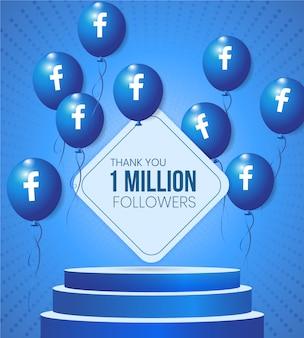Moldura de base 3d de mídia social com balões de vetor do facebook e texto para promoção de anúncio de negócios e vitrine de conselho consultivo