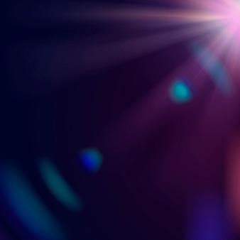 Moldura de borda de vetor de reflexo de lente roxa abstrata