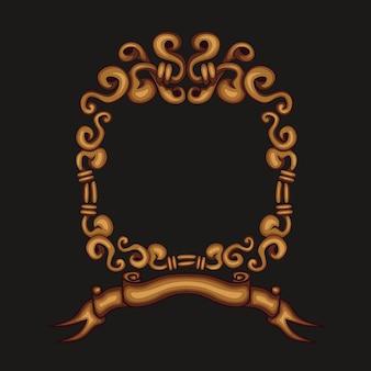 Moldura de borda dourada