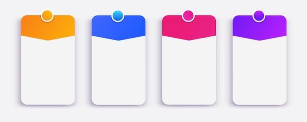 Moldura de cartão de vetor definida com canal de informações blog vlog mídia social promoção de marketing de movimento