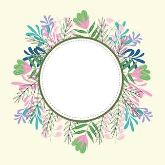 Moldura de círculo floral