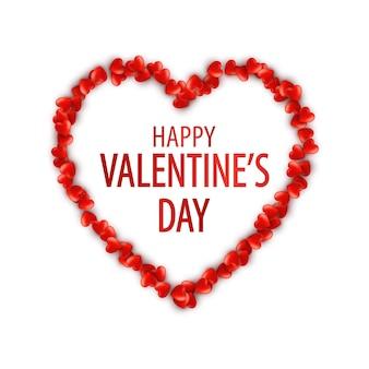 Moldura de coração romântico. modelo para banner do dia de são valentim.