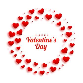 Moldura de corações lindos para o dia dos namorados