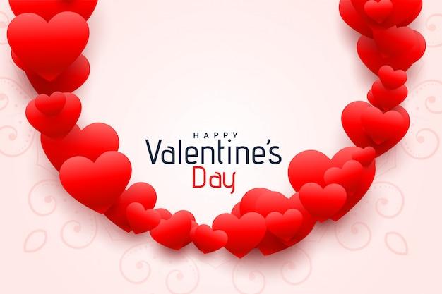 Moldura de corações românticos para design de dia dos namorados