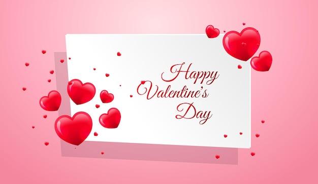 Moldura de corações vermelhos para o dia dos namorados