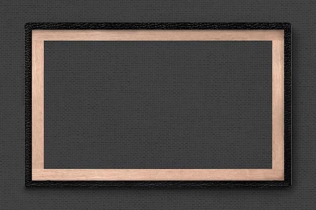 Moldura de couro preta em fundo escuro