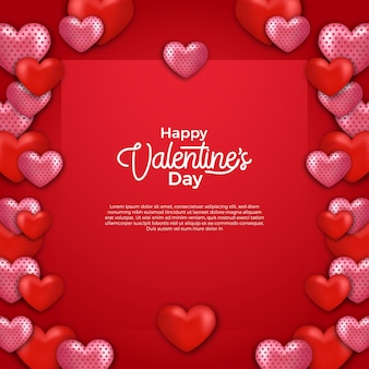 Moldura de decoração em forma de coração para o dia dos namorados