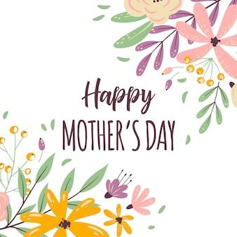 Moldura de dia das mães feliz