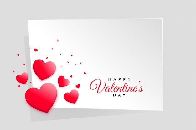 Moldura de dia dos namorados corações vermelhos com espaço de texto