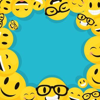 Moldura de emojis decorativos