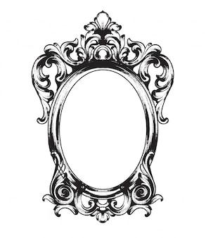 Moldura de espelho barroca