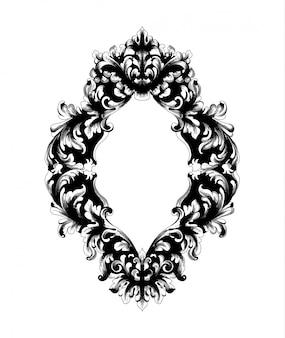 Moldura de espelho barroco imperial
