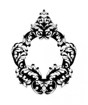 Moldura de espelho barroco vintage