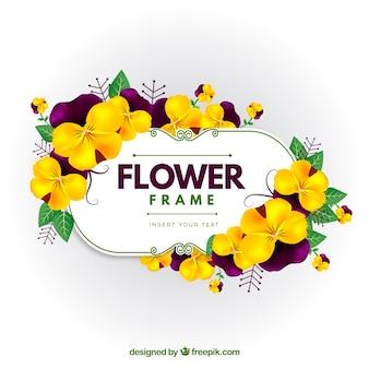 Moldura de flor amarela