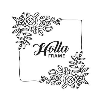 Moldura de flor de mão desenhada modelos