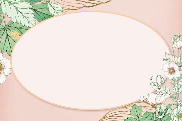 Moldura de flores desenhada à mão Vetor grátis