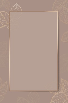 Moldura de folha dourada em branco Vetor grátis