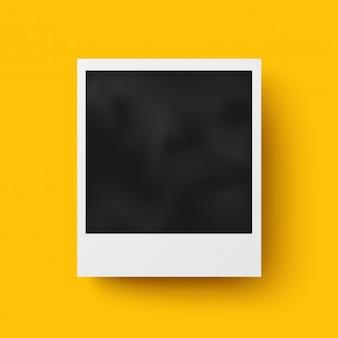 Moldura de foto realista com design de vetor de sombra