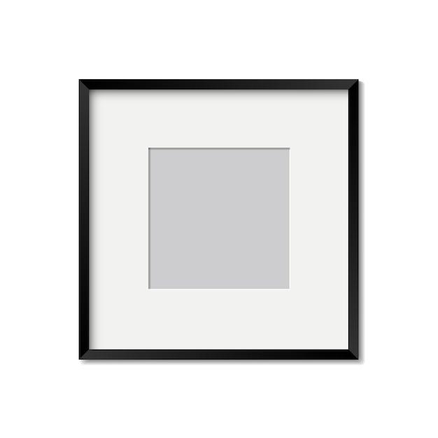 Moldura de foto realista isolada modelo de vetor para foto maquete de moldura de imagem em branco