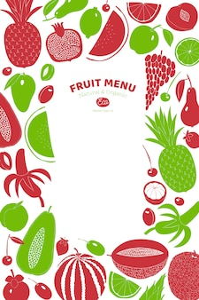 Moldura de fruta desenhada escandinavo