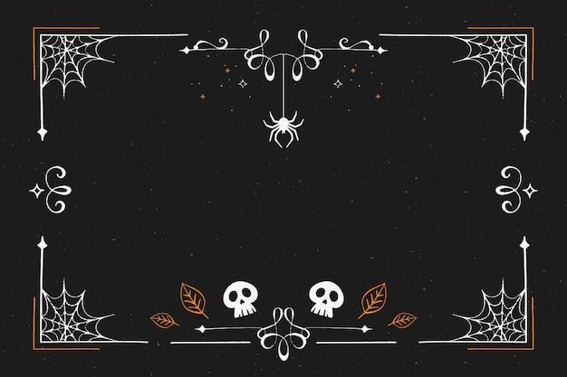 Moldura de halloween de design plano