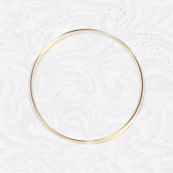 Moldura de luxo circualr dourada realista
