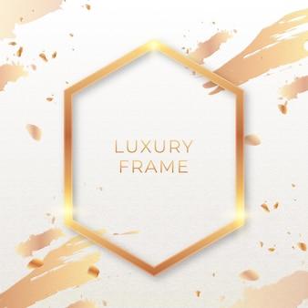 Moldura de luxo dourada realista