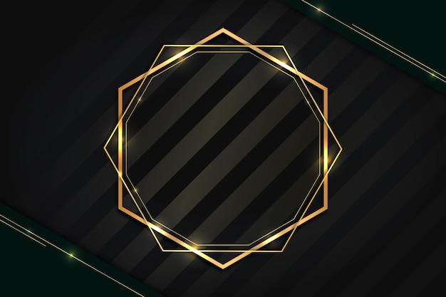 Moldura de luxo dourado gradiente geométrico