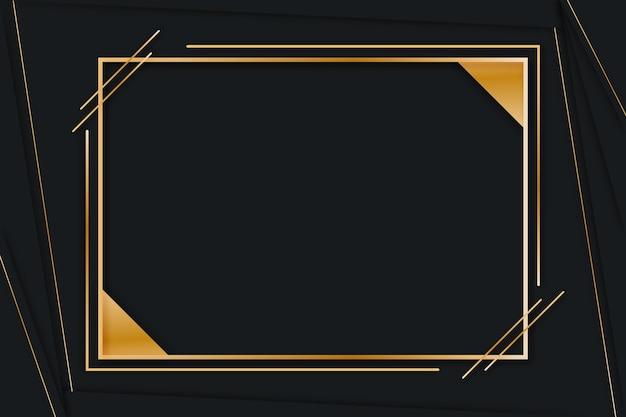Moldura de luxo gradiente dourada