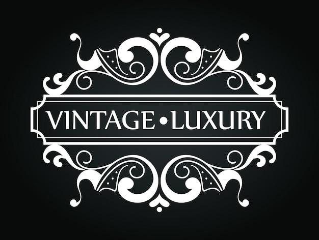 Moldura de luxo vintage com estilo de ornamento