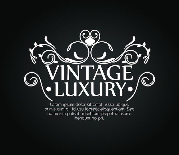 Moldura de luxo vintage ornamento com modelo de texto