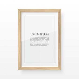 Moldura de madeira para imagem e texto