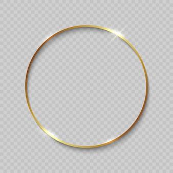 Moldura de ouro com bordas brilhantes