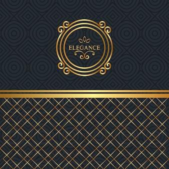 Moldura de ouro estilo elegância