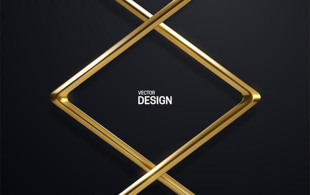 Moldura de ouro luxuosa