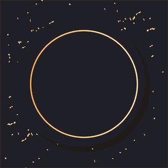 Moldura de ouro minimalista redonda
