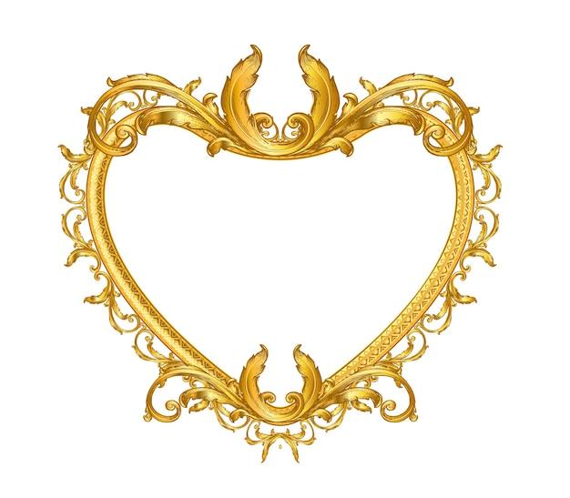 Moldura de ouro vintage