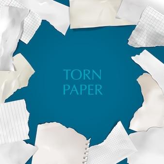 Moldura de papel rasgado
