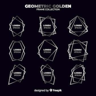 Moldura de prata geométrica
