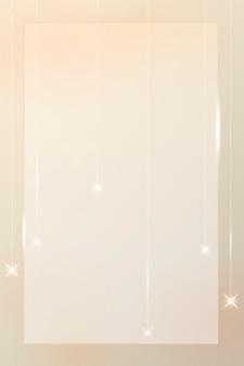 Moldura de retângulo dourado em branco