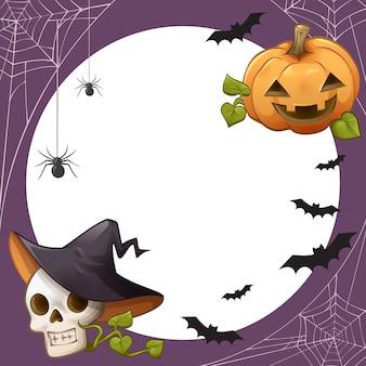 Moldura de tema de halloween