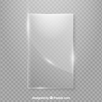 Moldura de vidro em estilo realista