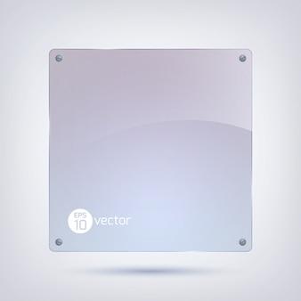 Moldura de vidro limpa, forma quadrada