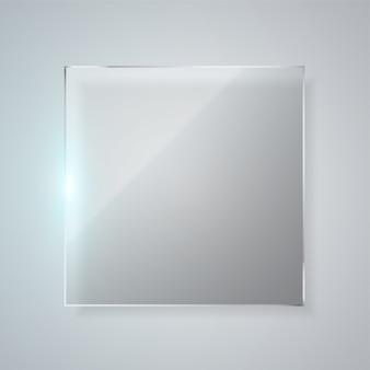 Moldura de vidro quadrada.