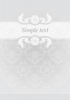 Moldura decorativa cinza, texto simples
