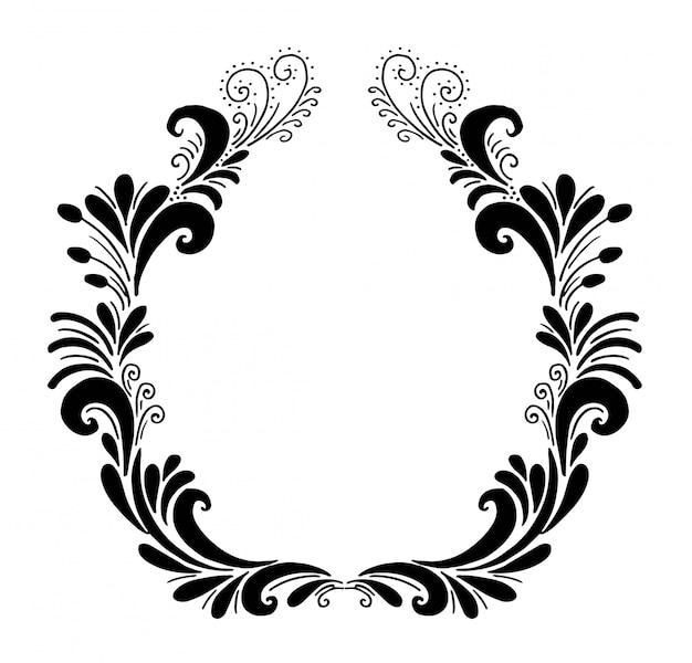 Moldura decorativa com elementos de design ornamentado