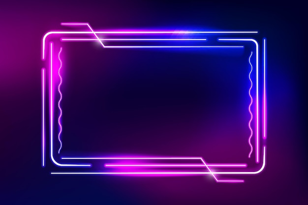 Moldura decorativa de néon brilhante