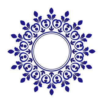 Moldura decorativa de porcelana