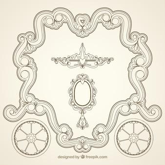 Moldura decorativa ornamental