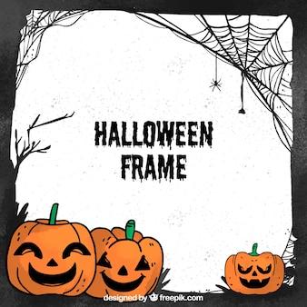 Moldura desenhada mão clássica de halloween